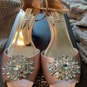 Badgley Mischka Sainte Kitten-Heel Sandals